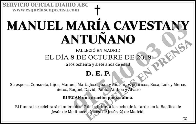 Manuel María Cavestany Antuñano
